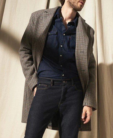 Abrigo Tweed hombre