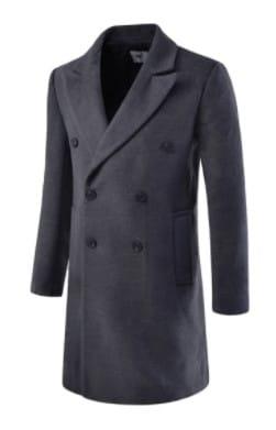 Abrigo gris carbón hombre