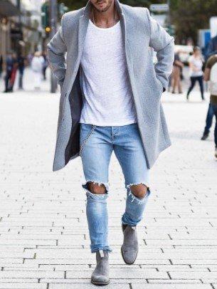 Abrigo gris claro